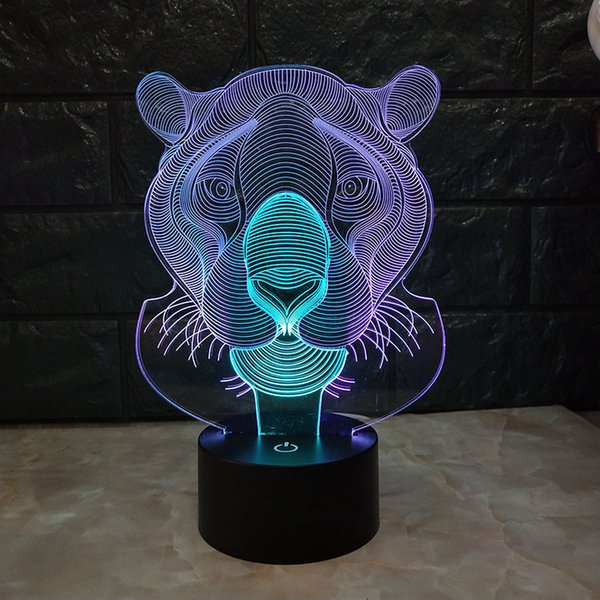 Mayor Compre Noche Luz Al Envío Color 3D 7 Dual USB DC A12 La 5V LED Por Lámpara Lámpara De Lámpara 3D De RGB Tiger La Powered Optial Gratuito 57 EDHe9W2IY