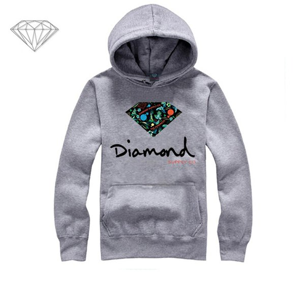 Diamond Supply hoodie for men free shipping diamonds hoodies hip hop brand new 2018 sweatshirt men's clothes pullover M06