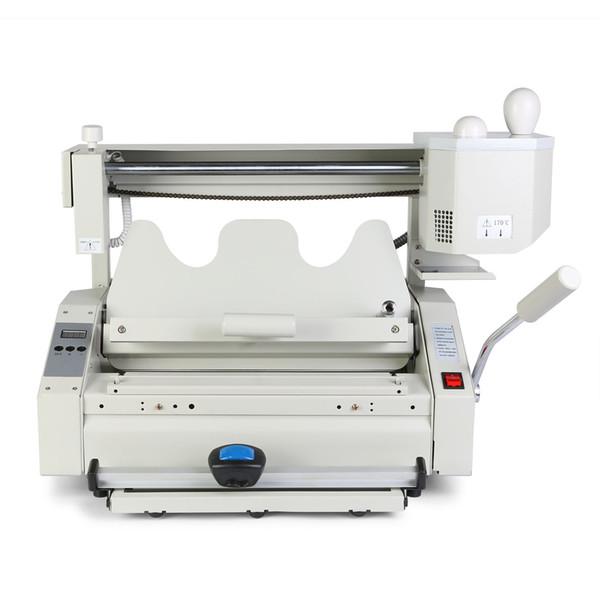 top popular 160Bookd per Hour Heavy Duty 4 In 1 Wireless Glue Book Binding machine Hot Glue Binder 2021