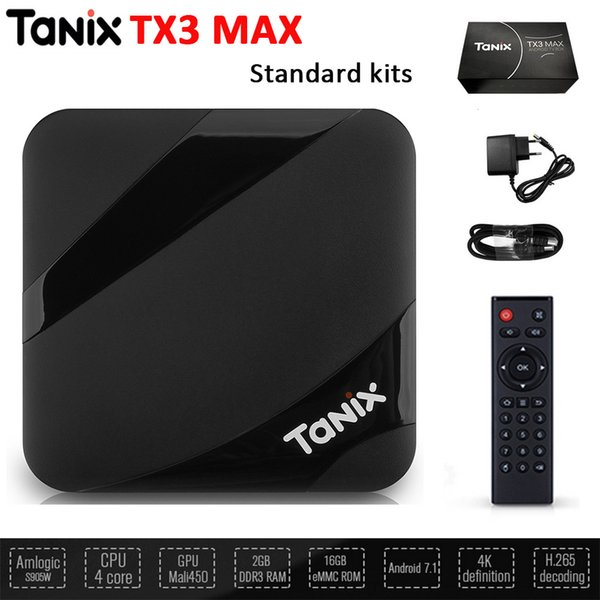 Tanix TX3 MAX TV Box Home Cinemas QuadCore 2G+16G Android 7.1 WIFI BT USB Player