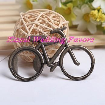 (25 Pieces/lot) Wedding and Party table decoration guest card holders of Antique Bicycle Bottle Opener for bridal showers and Party favors
