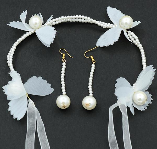 2018 new bride, Pearl Wedding Gown, wedding dress accessories, super fairy girl photo studio.