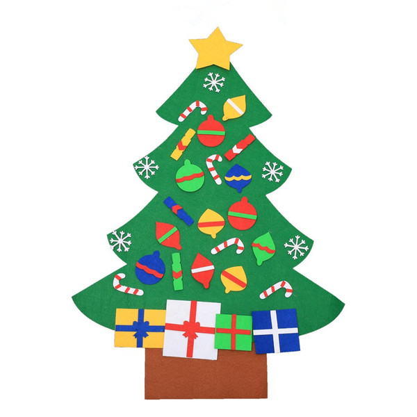 Christmas Tree Decorations 2018.2018 Kids Diy Felt Christmas Tree Decorations Christmas Gifts For 2018 New Year Gifts Door Wall Hanging Ornaments Le171 From The Wholesaler 6 54