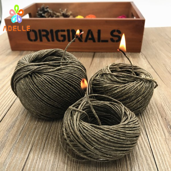 best selling HOT Organic Hive Wick Bees Waxed Twine Cord Cigarette lighter Candle craft Outdoor free shipping 10 yard