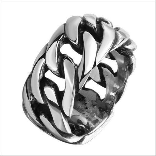 Mens Gothic Punk Skull Biker Jewelry Heavy Stainless Steel Cluster Rings Motorcycle Rings 8-11 - Free Shipping + Free Gift