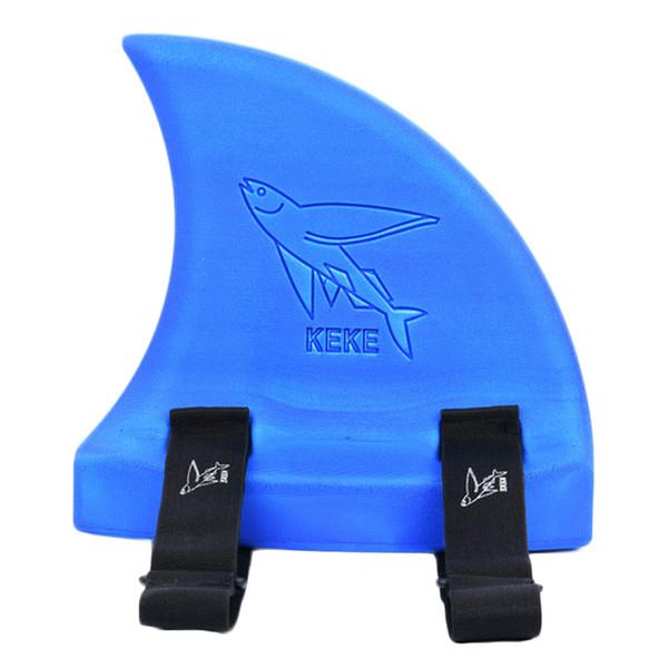 best selling 5 colors Children Adult Learn Swim Thicker Float Shark Fins Pool Buoyancy Swimming Aids EVA Fins Swim Help Floating