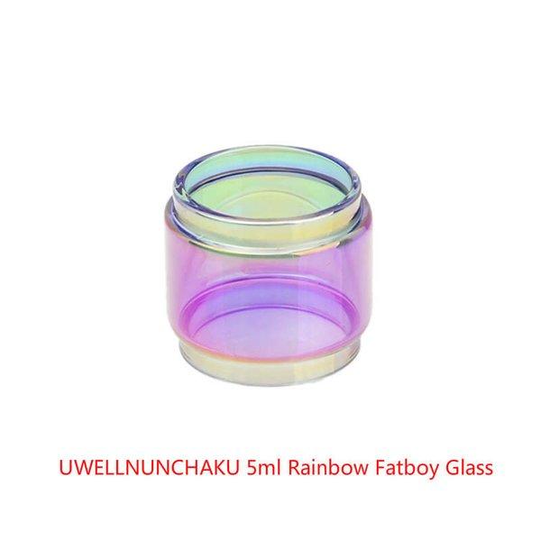 Wholesale UWELLNUNCHAKU 5ml Replacement Expansion Rainbow Glass DHL Free Buy Cheap UWELLNUNCHAKU Extended Glass Tube Fatboy Bulb Version