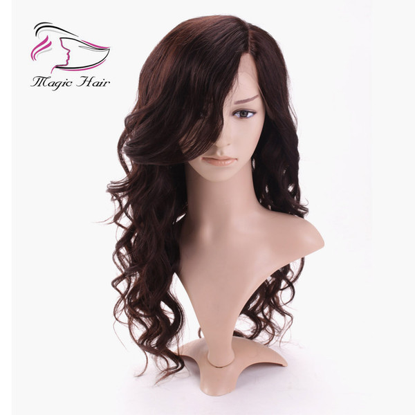 Evermagic full lace human hair wigs lace front wigs for women body wave beautiful hairstyle side part left pre-plucked hairline
