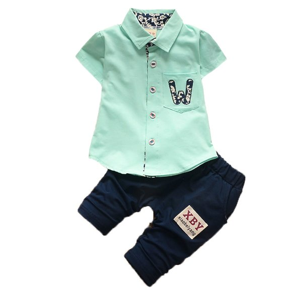 BibiCola 2018 Kids Summer Clothes Sets Baby Boys T-Shirt+ Pant 2pcs Clothing Set Toddler Boys Sport Suit set