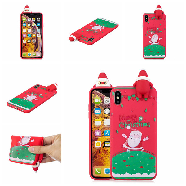 Christmas Gift Shell Skin For iPhone 5G 5S 5SE 6S 7 8 Plus X 10 Xs Xr Max Case Skin TPU Soft Shockproof Plastic Silicone Protective Cover