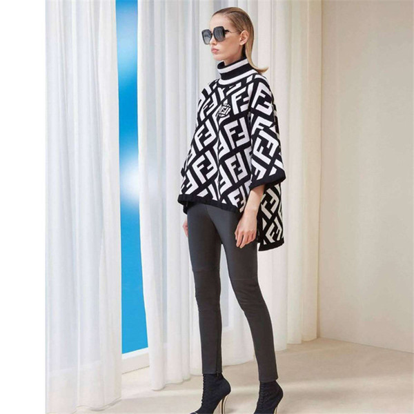 gsusu / Langarm Frauen Pullover Brief Drucken Applique Seitenschlitz Frauen Neue Marke Pullover Khaki Weiß Rollkragen Designer Pullover Frauen Kleidung