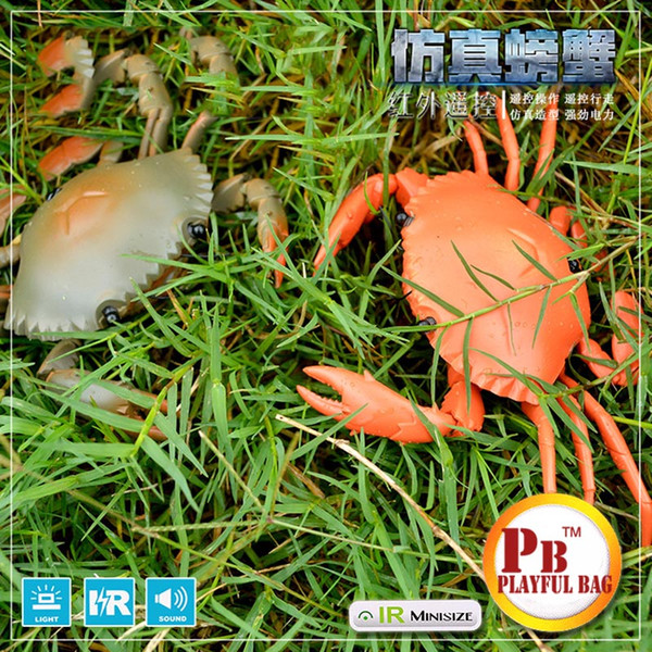 2018 Pb Playful Bag Children'S Toy Remote Control Animal Toy Creative Crab  Girl Yizhi Electric Crab Simulation Model Animal Toys  From Bdshop, $23 7 |