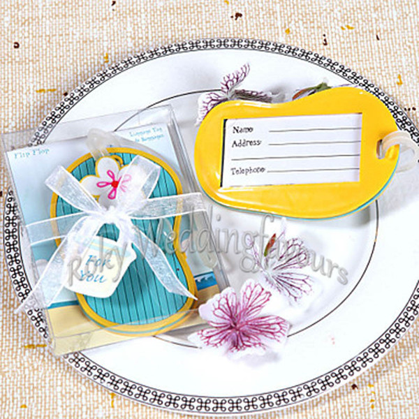 20PCS Flip Flop Luggage Tag Beach Theme Party Favors Bridal Shower Birthday Gifts Event Keepsake Anniversary Giveaways Ideas