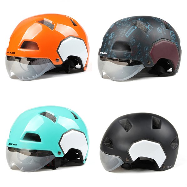 GUB V3 Retro Casque De Moto Personnalité Moitié Casque Semi-Couvert De Voiture Électrique Skateboard avec Des Lunettes De Visière