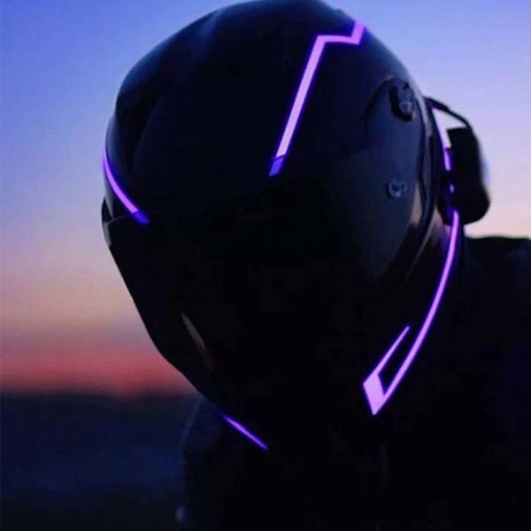 Motosiklet Kask Işık Modu Kiti Kasklar Gece Sürme Sinyali Yanıp Sönen Işıklar Şerit Bar B2Cshop