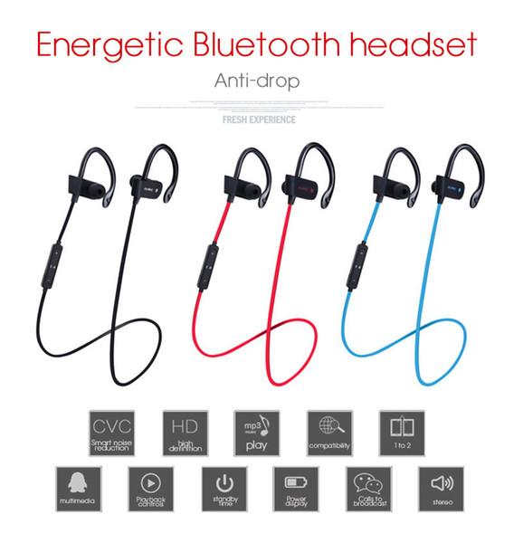 Bluetooth 4.1 Auriculares inalámbricos Gancho para la oreja tipo auriculares estéreo con control de volumen + micrófono para iPhone Samsung XiaoMi teléfonos