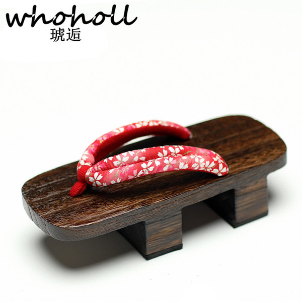 Wholesale Women Sandals Wooden Japanese Geta Floral Flip Flops For Female Cosplay Two Teeth Platofmr Sandals Clogs Slippers Hiking Boots Knee High