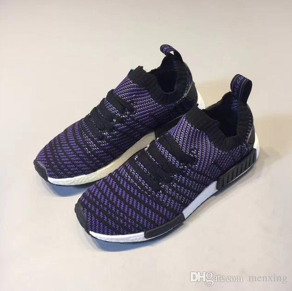 on sale ebfbb 2d0e5 2018 With Box Nmd _r1 Primeknit Runner 2019 Running Shoes S79162 S75234  Black Gray Blue Men Women Cheap Shoes Fashion Sneakers With Box From ...