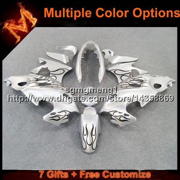 23colors + 8Gifts flames black Body kit funda de moto para Suzuki GSX600F Katana 2003 2004 2005 2006 GSX600F ABS Plastic Fairing