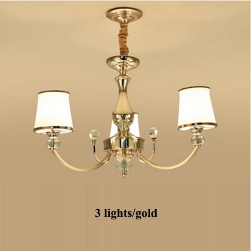 Ampoule 3 lumières dorée