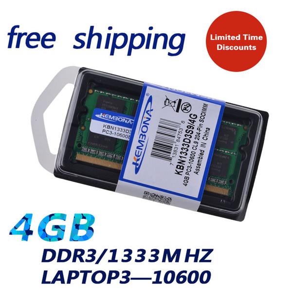 laptop 4gb KEMBONA Laptop 4GB DDR3 1333MHZ Notebook PC3 10600 SODIMM Memory ram 204PIN