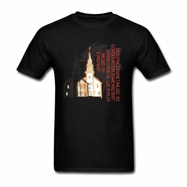 Fashion Short Sleeve Sale 100 % Cotton Reteonen Men's Beauty Building In 19th Century Short Sleeve T-Shirt