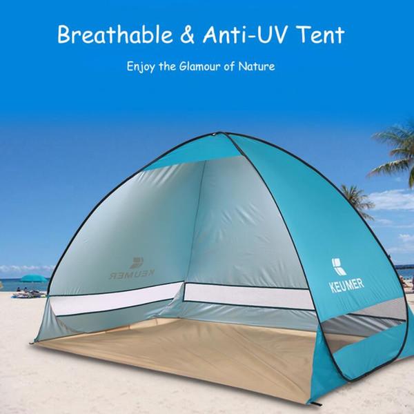 Automático tienda de la playa 2 personas tienda de campaña refugio de protección UV Tienda al aire libre tiendas de verano emergente instantánea 200 * 120 * 130 cm envío gratis