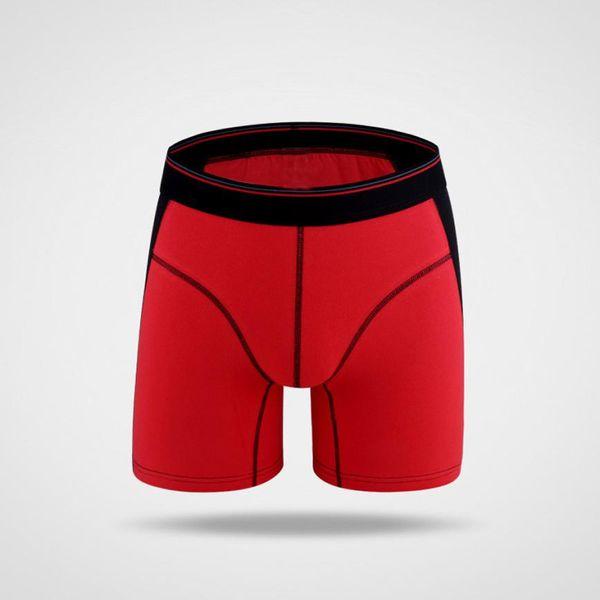 New 2017 Brand Clothing Solid Patchwork Boxer Shorts Long boxers leg Man underwear soft underpants Male panties XXXL wholesale#E