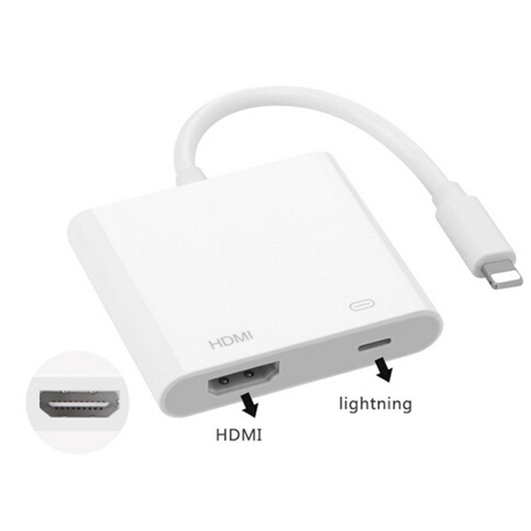 Lightning Digital AV Adapter For Apple iphone HDMI Adapter Cable With Retail Package High Quality DHL shipping