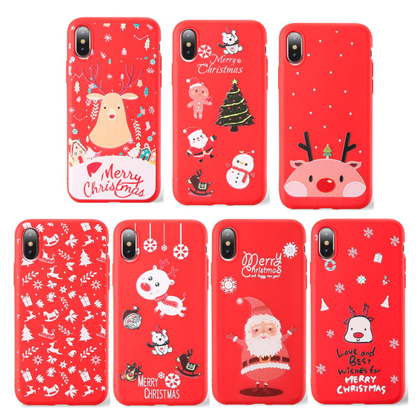 Iphone 6 Plus Christmas Case.Phone Case For Iphone 7 6 Plus Soft Christmas Tree For Iphone X Xs Xr Xs Max Silicone Santa Claus Phone Cover Top Leather Phone Case Make Your Own
