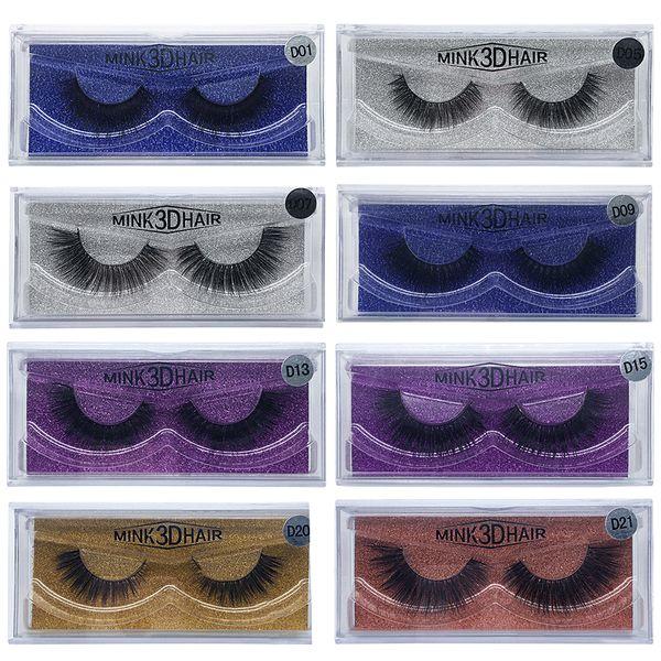 3D Mink Eyelashes False Lashes Thick Natural Long Eyelashes Beauty Eyes Makeup Individual Eyelash Extensions Mink Eye Lashes 15 Models