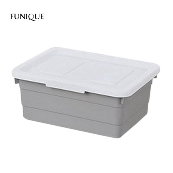 FUNIQUE Plastic Clothes Storage Box Finishing Box Covered Wardrobe Clothing Storage Household Large Toys Debris