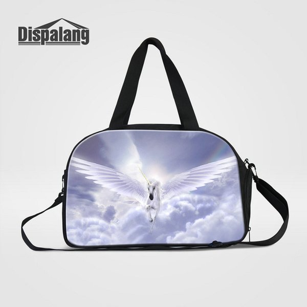 97b54ca6495e Personalized Unicorn With Wing Travel Bags For Teenage Girls ...