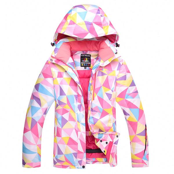 Outdoors Ski suit Ma'am Loose coat waterproof Keep warm Wind proof Ski Jackets White spot Skiing sweater