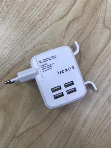 4 USB Multi Ports Adapter Travel Wall AC Charger UK/EU/US/AU Plug 6A DHL free shipping