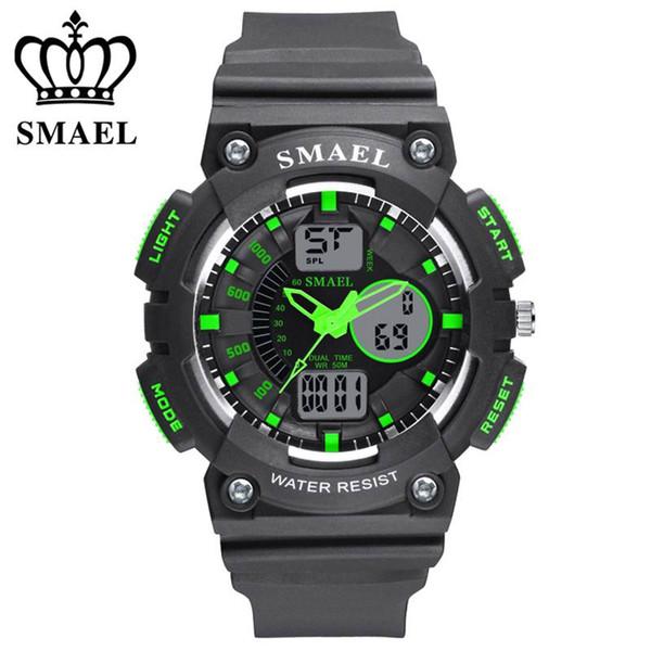 027181fa1fa Moda smael marca homens relógios led digital relógio de quartzo menino  menina estudante multifuncional relógios de pulso à prova d  água para  crianças