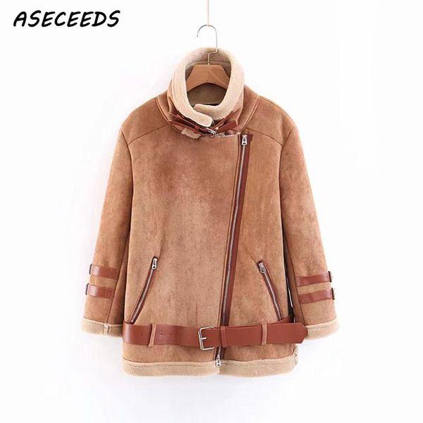 Manteau femme hiver warm coat women abrigo mujer winter biker jacket chaquetas mujer invierno 2018 suede jacket leather clothes