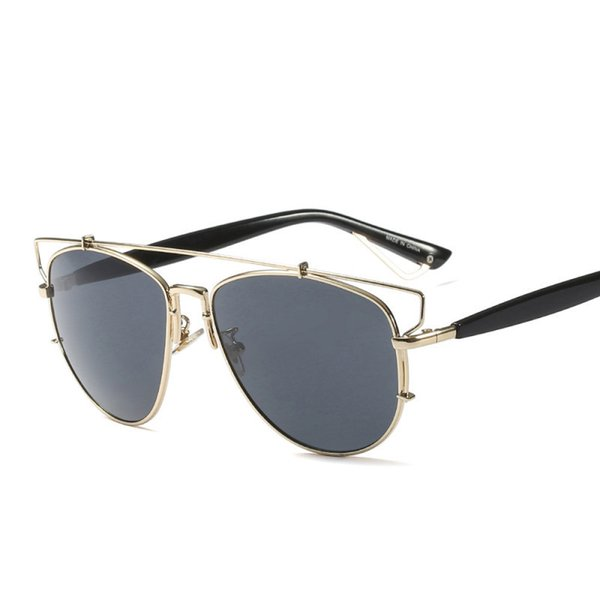 HUITUO Moda Retro Cat Eye Sunglasses Hombres Conductor Conducir Anteojos de Alta Calidad UV400 Metal Gafas de Sol Parejas Espectáculos
