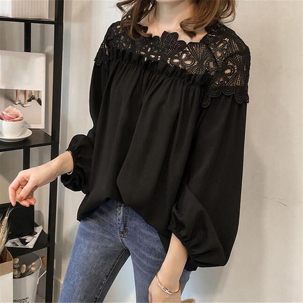 release date: online retailer high fashion 2020 Long Sleeve Shirts Plus Size Tops Women Chiffon Blouse Tops ...