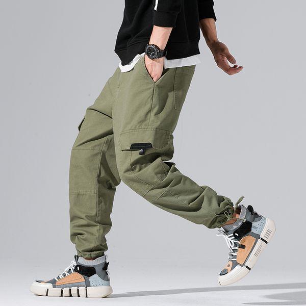 2018 New Autumn Summer Track Pants Men Fashion Brand Trousers Men Streetwear Mens Joggers Pants multi-pocket Cargo Khaki Pants