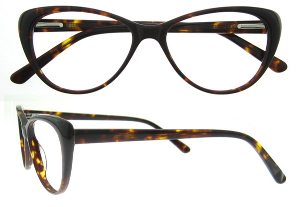 f96237d94c92 Free Shipping Fashion Eyewear Cat Eye Shape HandMade Prescription Lens  Medical Optical Acetate Glasses Frame For