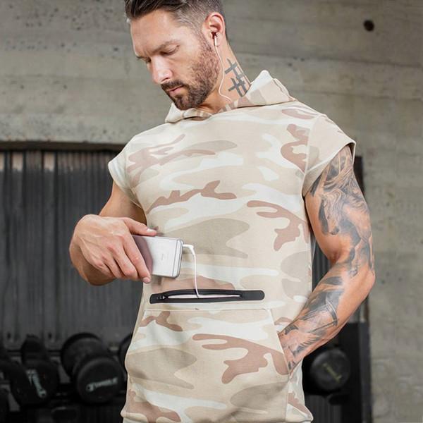 Camouflage Fitness Running t shirt Gym Sweatshirts Men Sportswear Clothing Printing Chic Designed Bodybuilding Sport Top Mens