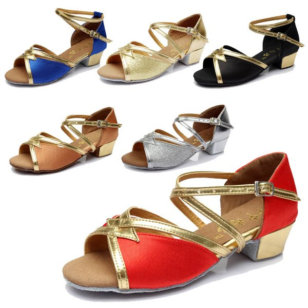 Child Latin Tango Ballroom indoor Shoes Dancing Shoes For Girl Discount Brand Shoes Heel Hight 3.5cm 603