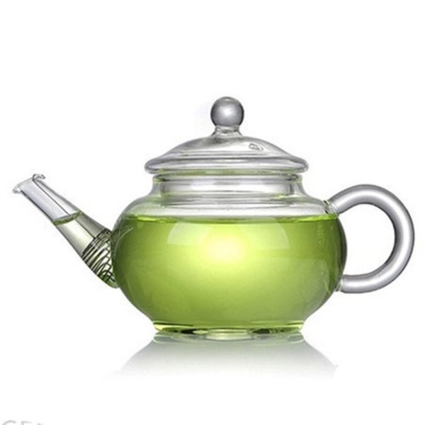 Clear Glass Scented Tea Pots 250Ml Heat Resisting High Borosilicate Drinkware Smooth Flower Teapot High Quality W8099