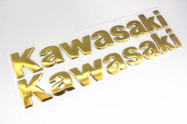 Etiqueta engomada 3D para todos los modelos de Kawasaki Ninja 250 300 ZX10R ZX6R Z800 Z1000 Tank Moto