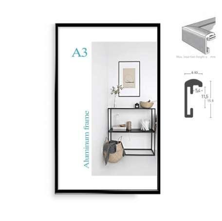Klasik minimalist alüminyum A4 A3 poster çerçeve duvar asılı metal fotoğraf çerçevesi için sertifika çerçeve
