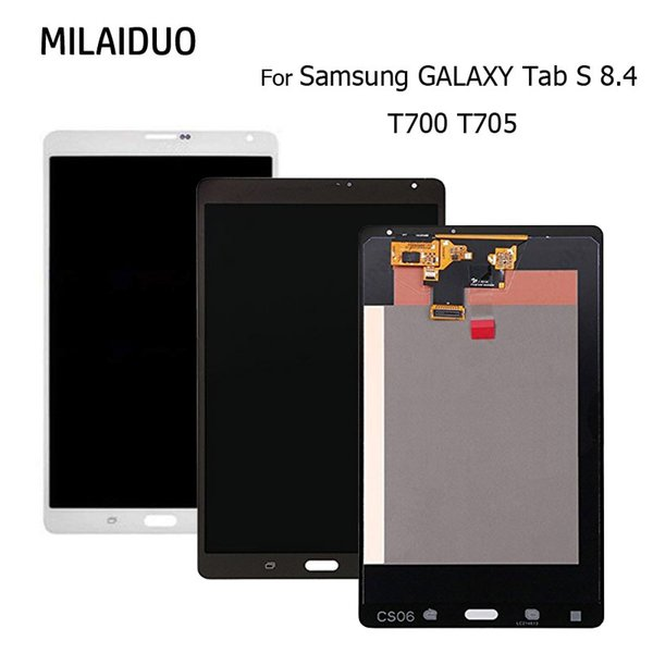 """Replacement Parts For Samsung GALAXY Tab S 8.4"""" T700 T705 LCD Display Touch Screen Digitizer Assembly Original Black or White"""