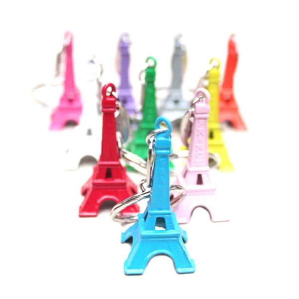 Couleur Bonbons Couleur Tour Eiffel Porte-clés Décoration Petit Cadeau Mini Chaîne Clé Eiffel