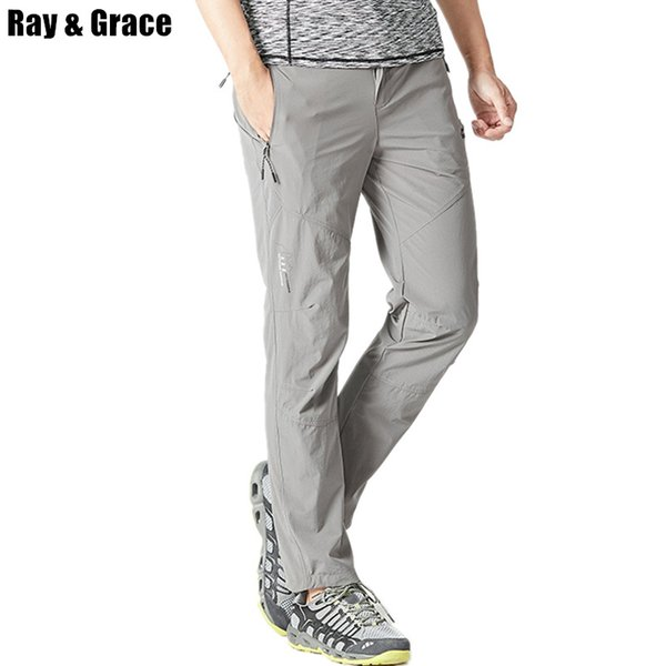 RAY GRACE Outdoor Pants Summer Men Quick Dry Trekking Fishing Trousers For Men Breathable Hiking Camping Climbing Pants C18111401