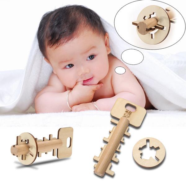 Bambù sbloccare chiave bambino sviluppo giocattoli educativi bambini intelligenza giocattolo prescolare per bambini bambini adulti